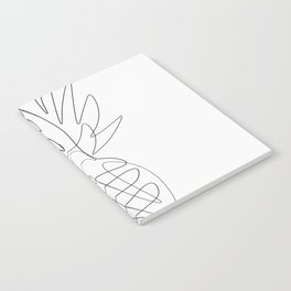 One Line Pineapple Notebook