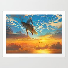 Beautiful world Art Print