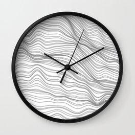 Soft Peaks Wall Clock