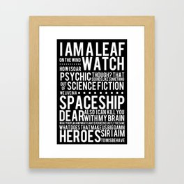 Firefly Subway Poster Framed Art Print