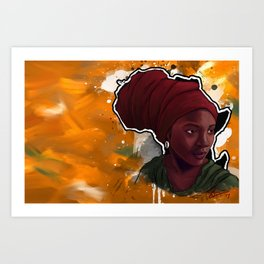 AFRIKA: Mother in Meditation Art Print