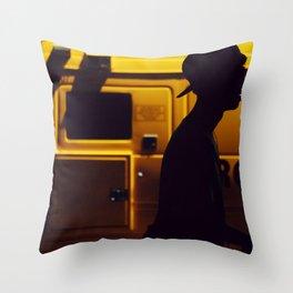 Yellow van Australian man Throw Pillow
