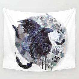 Full Moon Fever Dreams Of Velvet Ravens Wall Tapestry