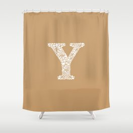 Floral Letter Y Shower Curtain