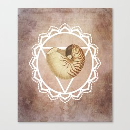 Shell Chakra Red Canvas Print