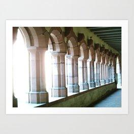 Worms abbey. Art Print