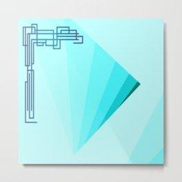 Eleganza 09, aqua Metal Print