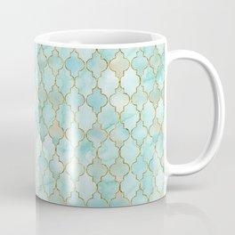 Luxury Aqua and Gold oriental pattern Coffee Mug