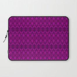 Magenta Damask Pattern Laptop Sleeve