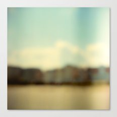 Blurry Beach Houses  Canvas Print