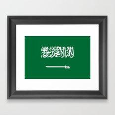 Flag of Saudi Arabia Framed Art Print