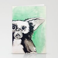 gizmo Stationery Cards featuring Gizmo Holiday by Lacey Hunt Art