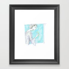 Spring Woman  Framed Art Print