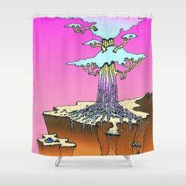 Acid Tree Shower Curtain