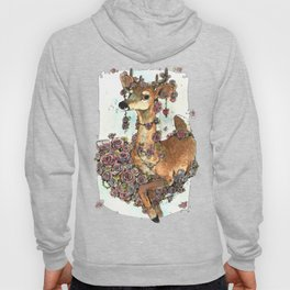 Deer in Flowers Hoody