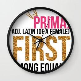 Prima! Wall Clock