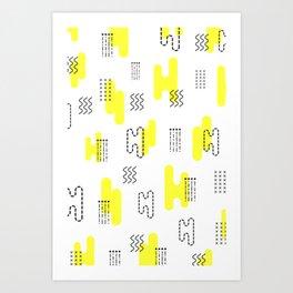 Memphis style pattern design Art Print