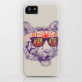 Karate Tiger iPhone Case