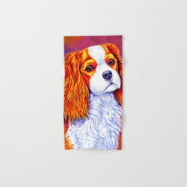 Colorful Cavalier King Charles Spaniel Hand & Bath Towel