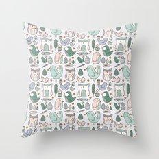 Little Birdies Throw Pillow