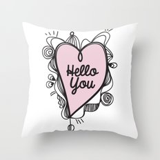 Hello You! Throw Pillow