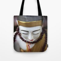 buddha Tote Bags featuring Buddha by Maria Heyens