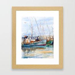 Fishing Boats (Namaste) Framed Art Print
