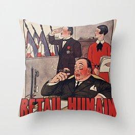 Old sing Nouvel Ambigu Throw Pillow