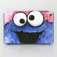 cookie monster iPad Cases featuring Cookie Monster by Olechka