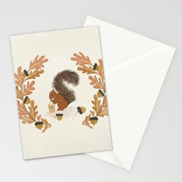 Pumpkin Spice Squirrel Stationery Cards