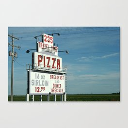 Roscoe Texas Travel Stop Sign Canvas Print
