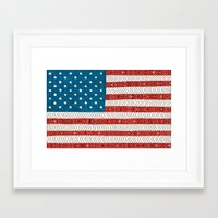 novelty Framed Art Prints featuring USA by Bianca Green