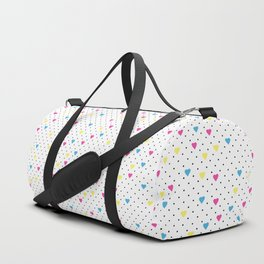 Pin Point Hearts CMYK Duffle Bag