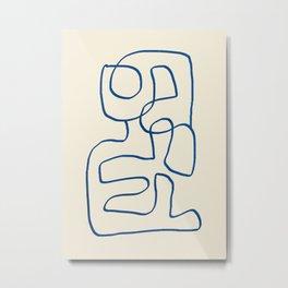 Abstract line art 16 Metal Print