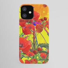 MODERN TROPICAL FLOWERS GARDEN DESIGN IN YELLOW-ORANGE COLORS iPhone Case