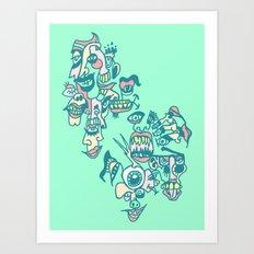 Screaming Eyeball Art Print