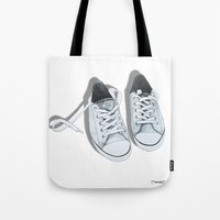 converse Tote Bags featuring Converse by BlendByEli