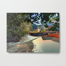 Nature, a river and colorful reflections | waterscape photography Metal Print