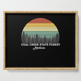 Coal Creek State Forest Montana Serving Tray