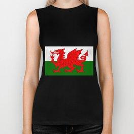 Welsh Dragon Flag Biker Tank