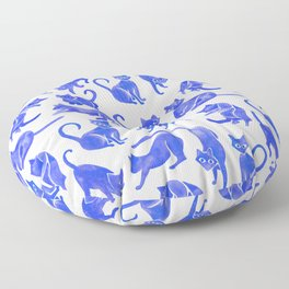 Cat Positions – Blue Palette Floor Pillow