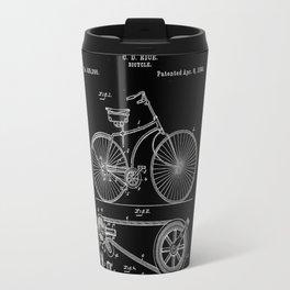 Bicycle Vintage 1890 Patent Papers Print Travel Mug