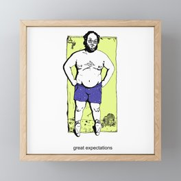S. Kubrick on the beach Framed Mini Art Print