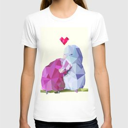 Low Poly Love Birds T-shirt