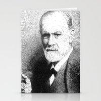 freud Stationery Cards featuring Sigmund Freud (Pen Pointillism) by Daniel Point
