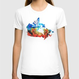 Canada - Canadian Map By Sharon Cummings T-shirt