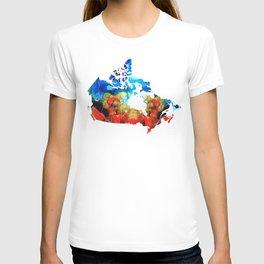 Canada - Canadian Map By Sharon Cummings T-shirt