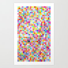 stress squares Art Print