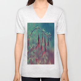 Red Foxia Unisex V-Neck