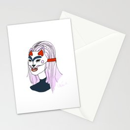 Cat girl 2 Stationery Cards